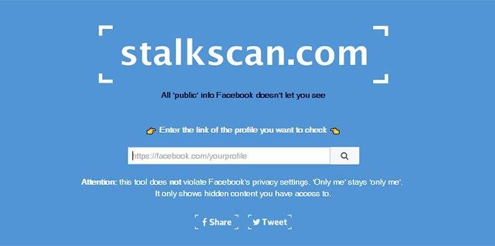 StalkScan, la web para conocer todo lo que Facebook sabe de ti