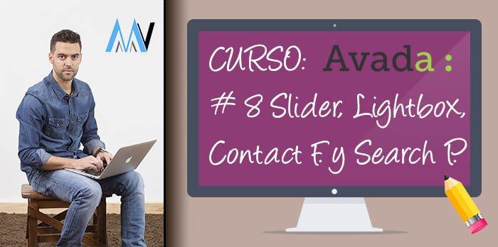 Curso AVADA WordPress: #8 Opciones Elastic Slider, Lightbox, Contact Form y Search Page