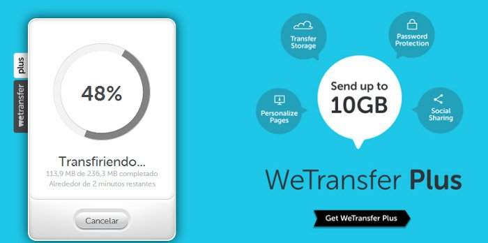 Wetransfer, el servicio por excelencia para compartir archivos pesados