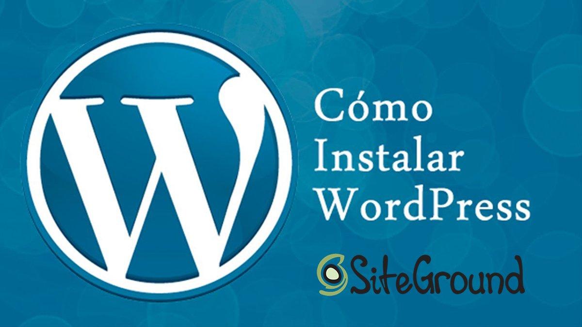 Instalar wordpress desde siteground con un solo click