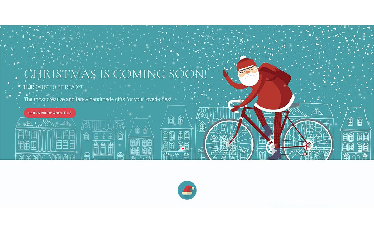 Regalo Landing Page Christmas Day para Divi WordPress copia
