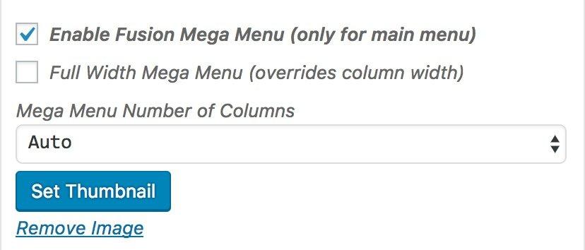 Como crear un mega menu en Avada WordPress 2