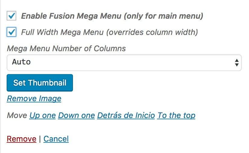 Como crear un mega menu en Avada WordPress 6