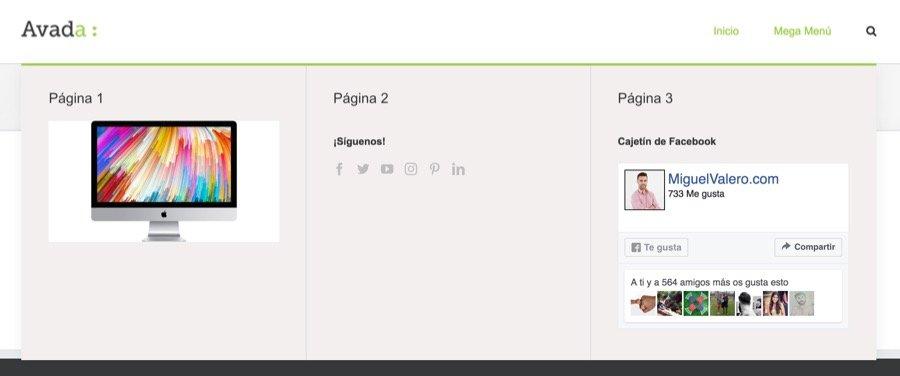 Como crear un mega menu en Avada WordPress 7