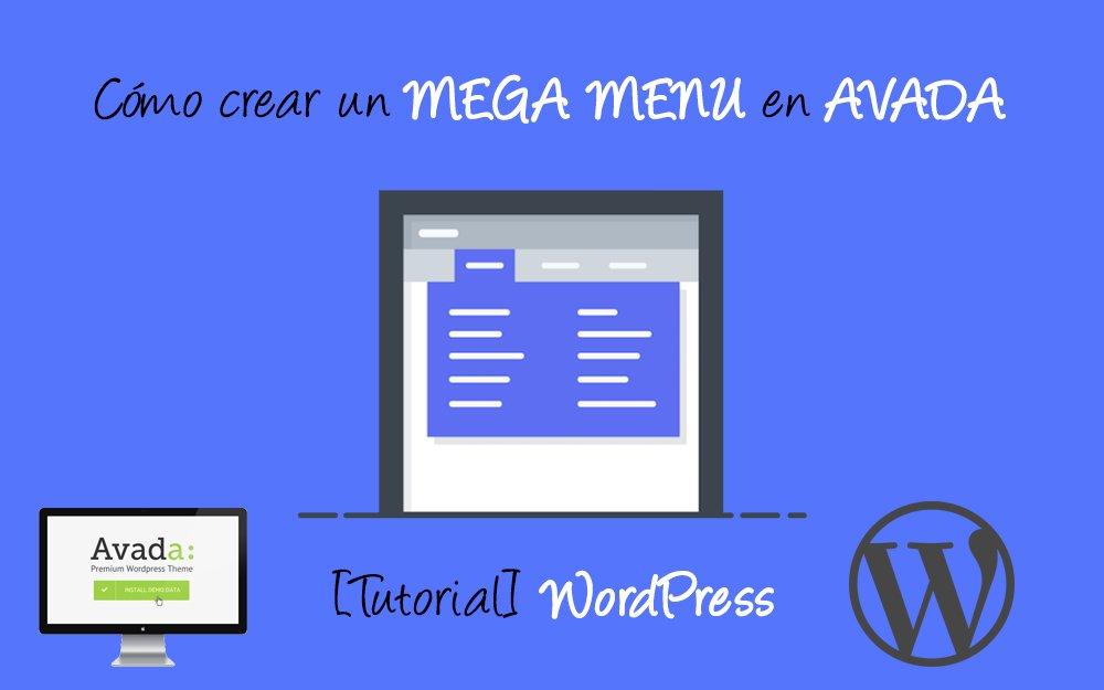 Como crear un mega menu con Avada WordPress