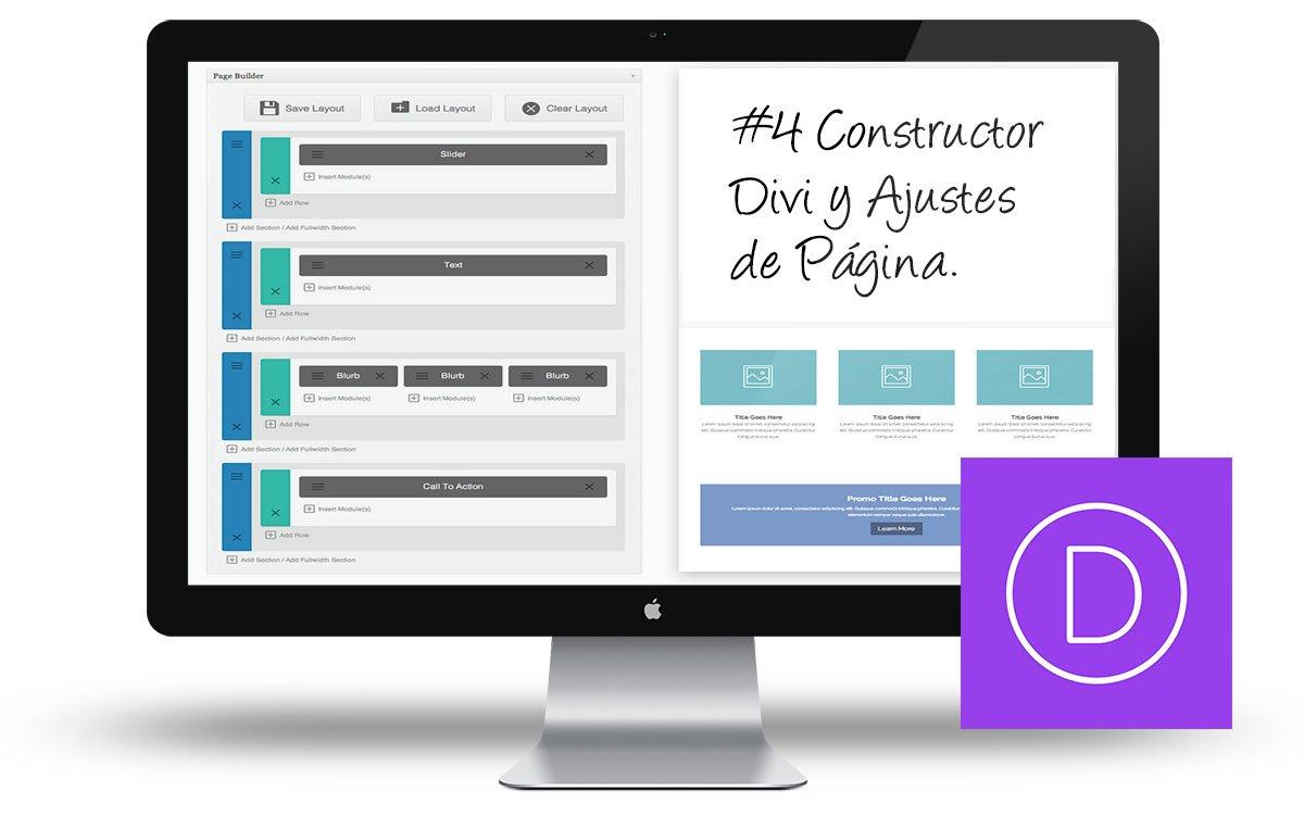 Curso de Divi 3.0: #4 El constructor Divi y los ajustes de página