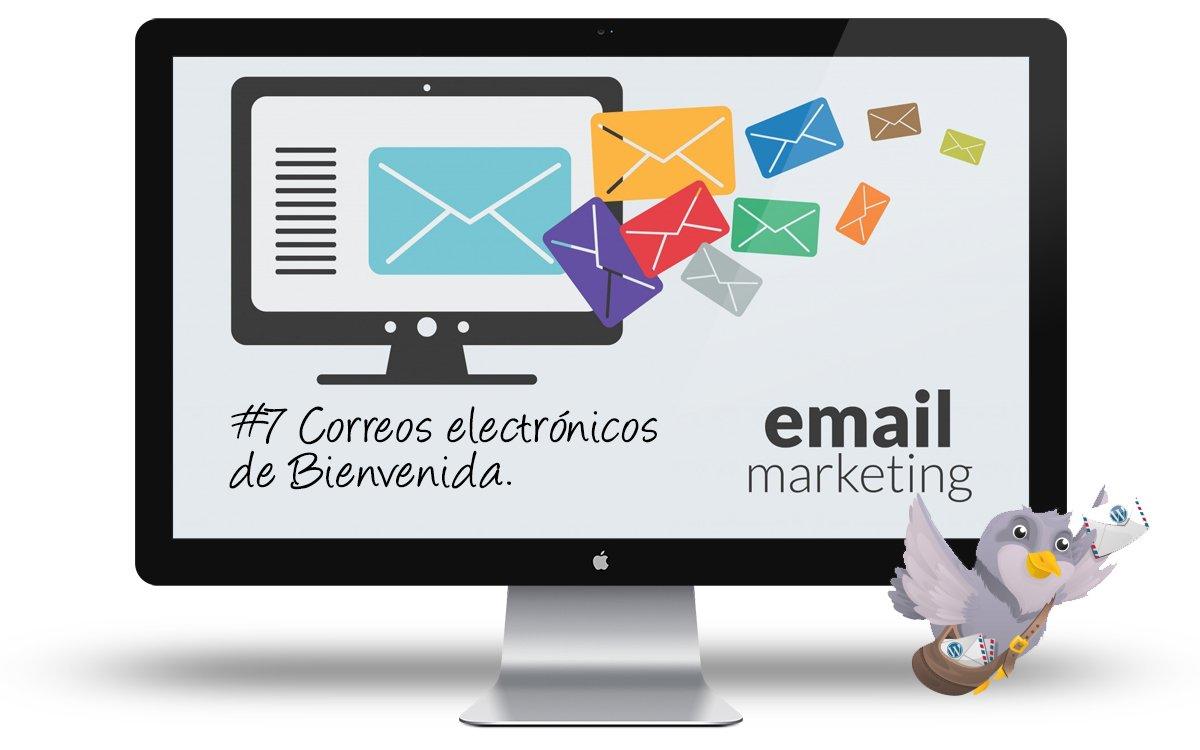Curso email marketing con WordPress - 7 Correos de bienvenida