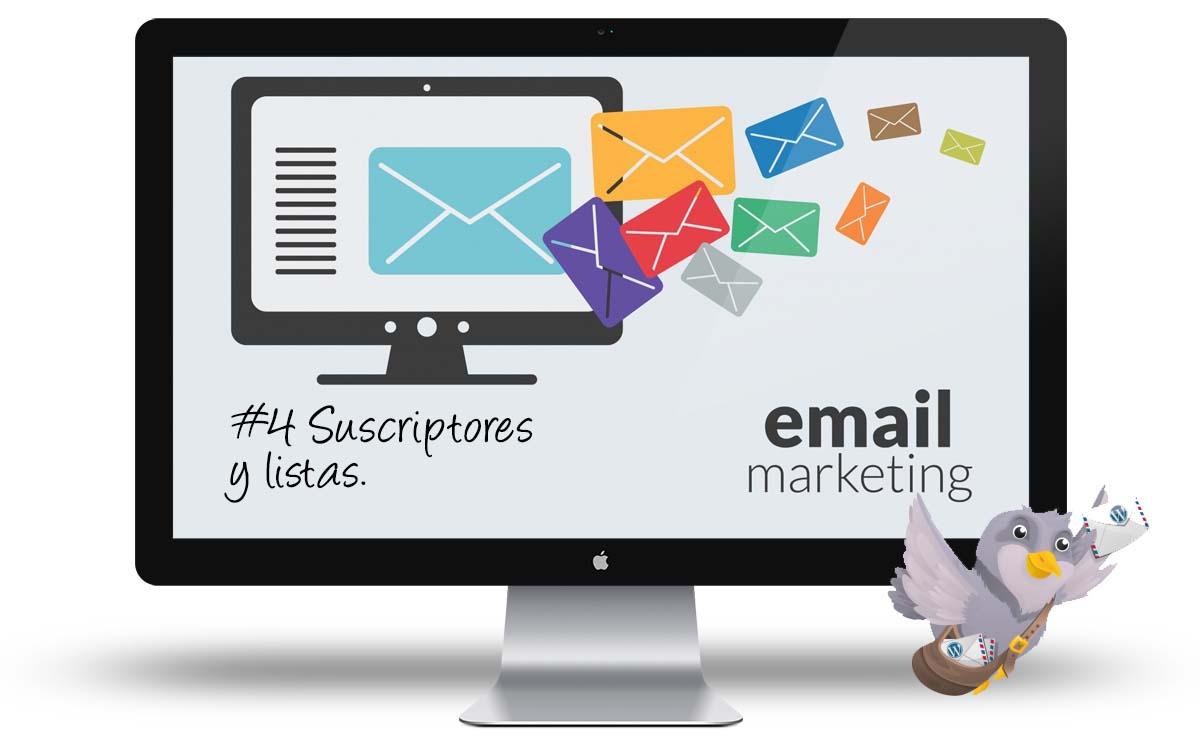 Curso email marketing con WordPress - Suscriptores y listas