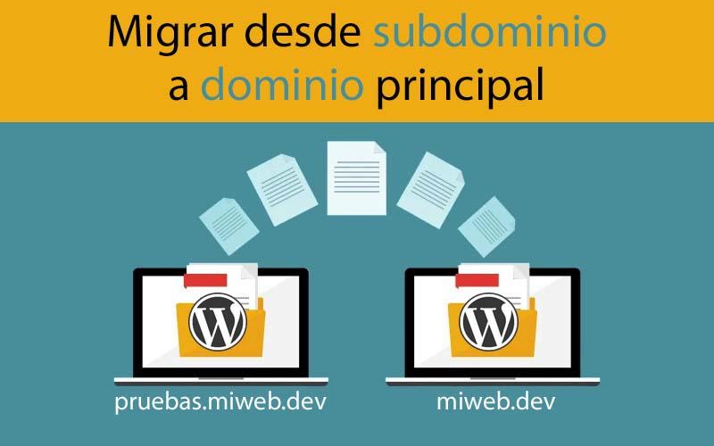 Migrar WordPress desde subdominio a dominio principal