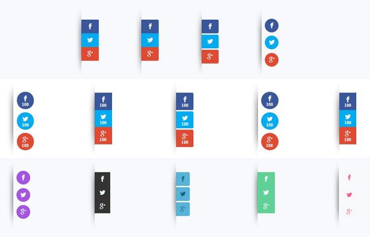 Botones de compartir en redes sociales en la barra lateral - Monarch WordPress