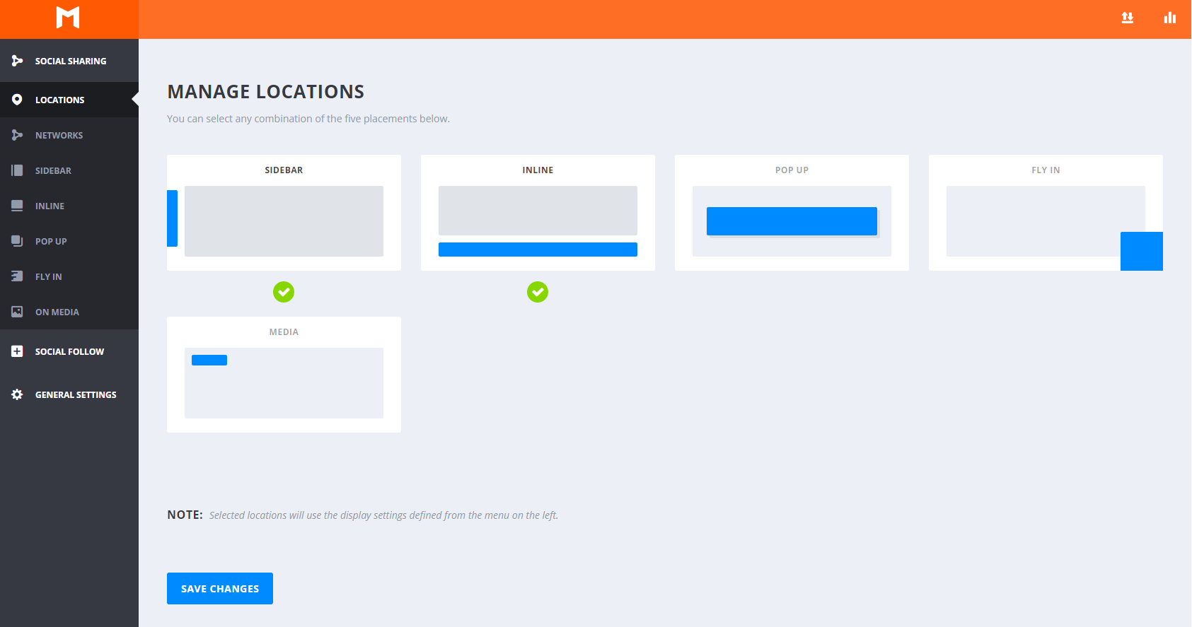 Localización de los botones de compartir en redes sociales - Monarch WordPress