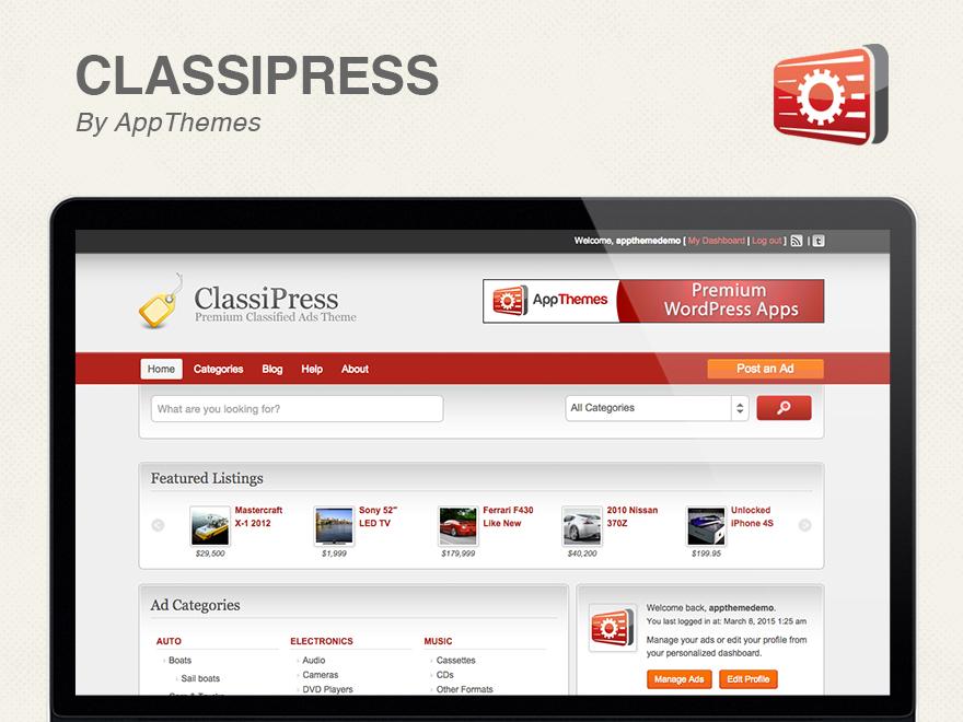 Classipress Theme WordPress