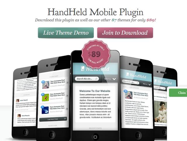HandHeld Plugin 1.3.1 de Elegant Themes