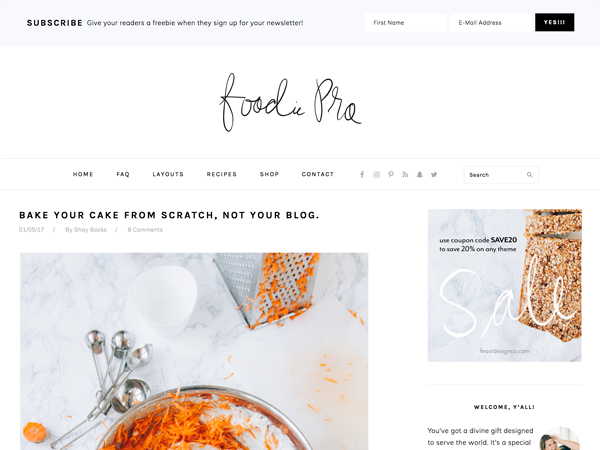 Foodie Pro Theme Genesis Child Theme
