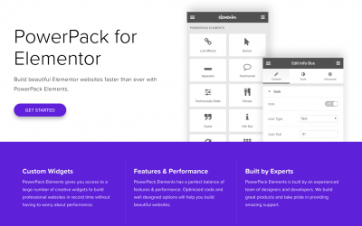PowerPack Elements – Custom addons for elementor