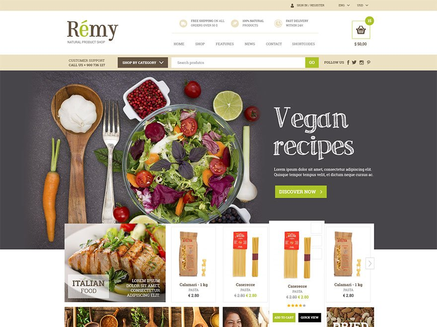 Remy Premium Theme 1.1.8 – Yith Themes