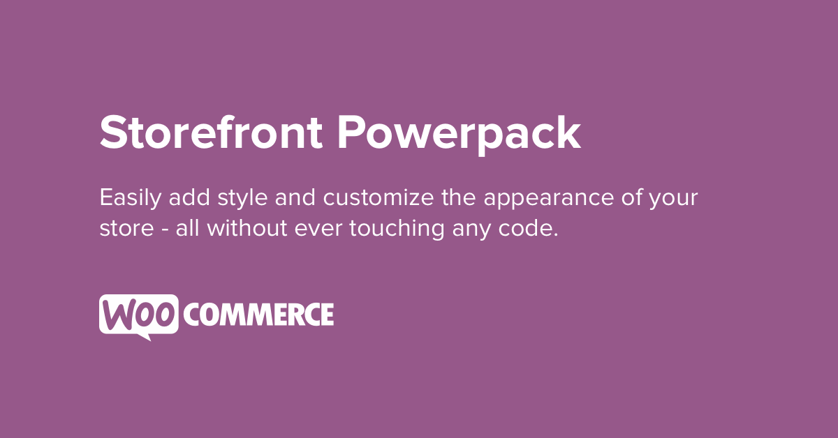 Storefront Powerpack Plugin
