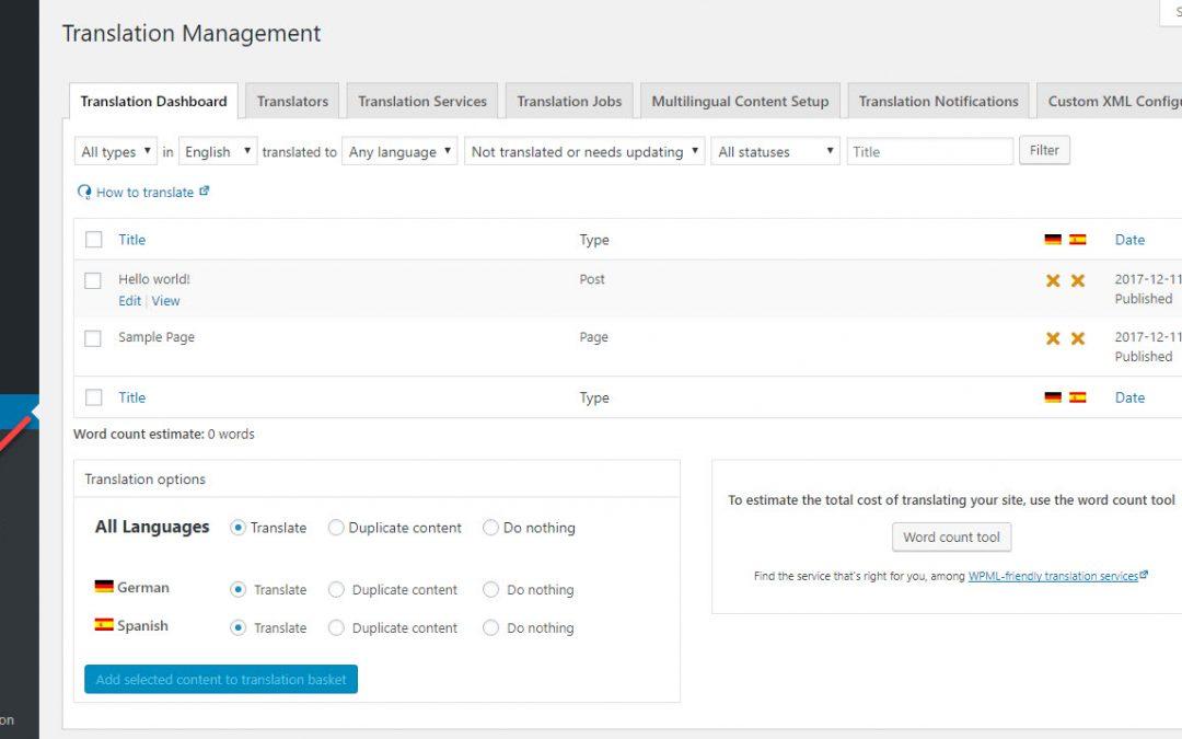 Translation Management Plugin 2.5.2 – WP Multilingual