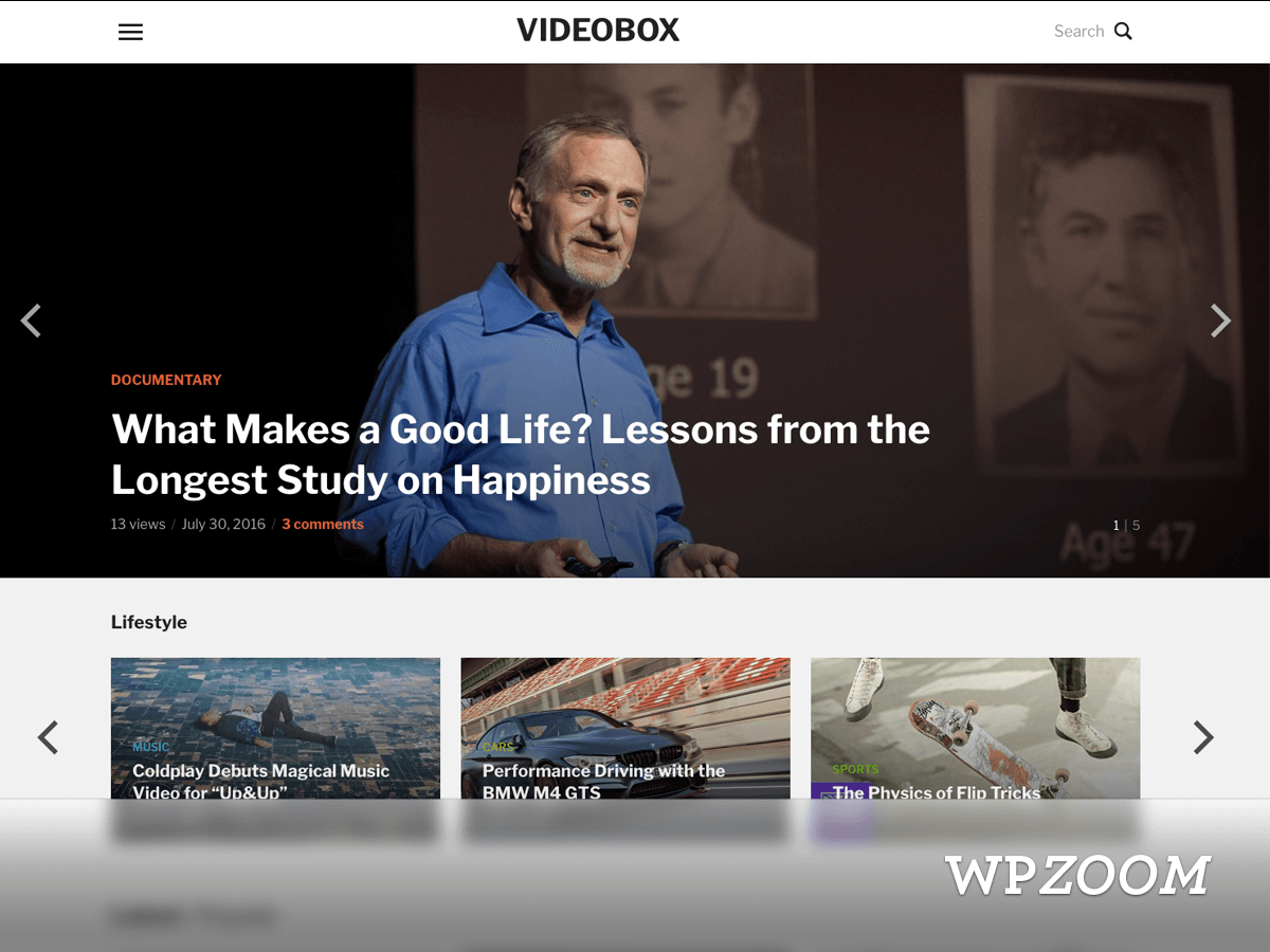 VideoBox WordPress Theme WPZOOM