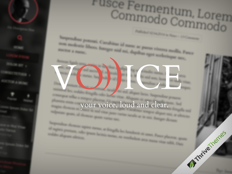 Voice Theme – Thrive Themes