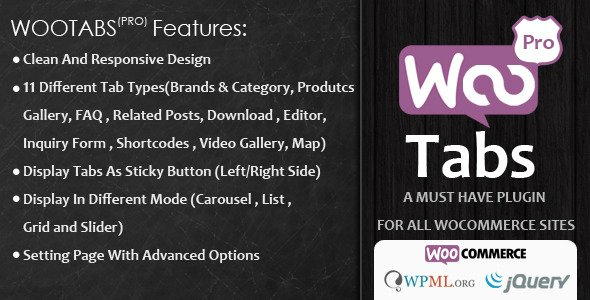 Woocommerce Tabs Pro: Extra Tabs for Product Page 2.8