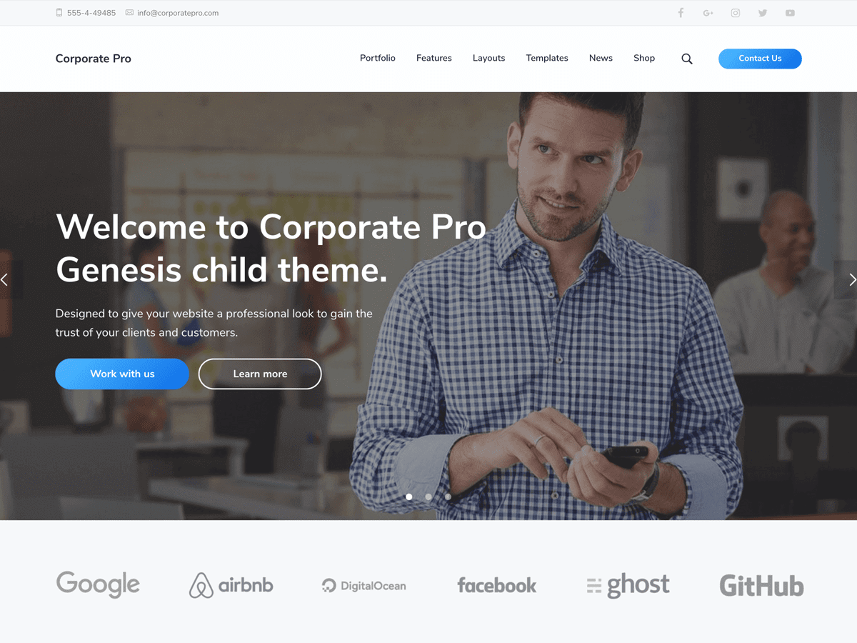 Corporate Pro Theme - Genesis Child Theme