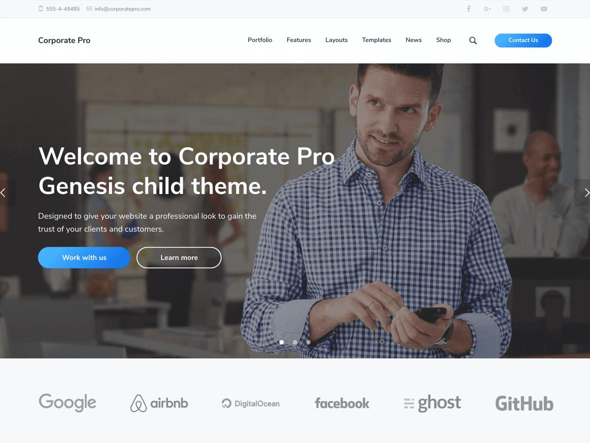Corporate Pro Theme - Genesis Child Theme