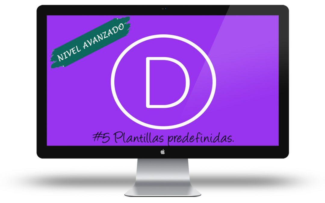 Curso Divi Avanzado - Plantillas predefinidas
