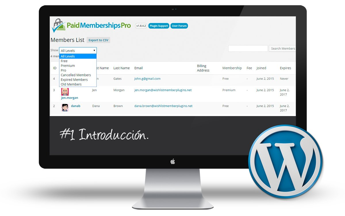 Curso Membership Sites - Introduccion