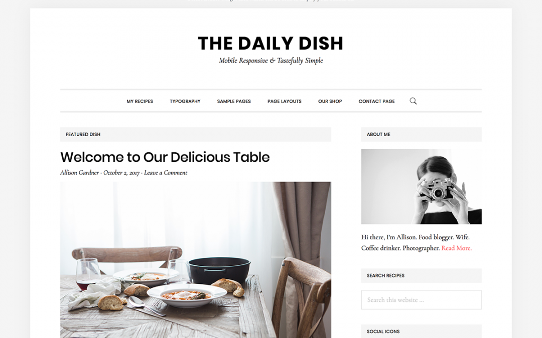 Daily Dish Pro Theme- Genesis Child Theme