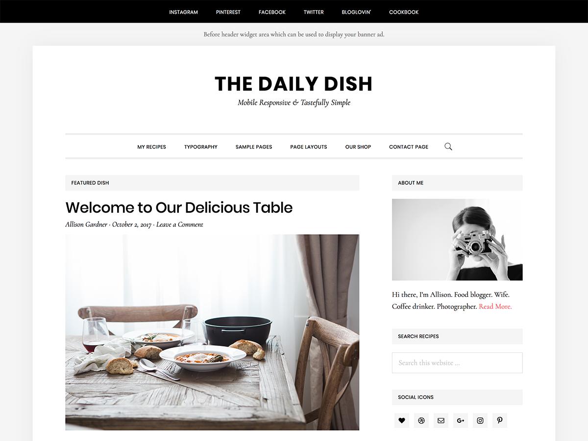Daily Dish Pro Theme- Genesis Child Theme