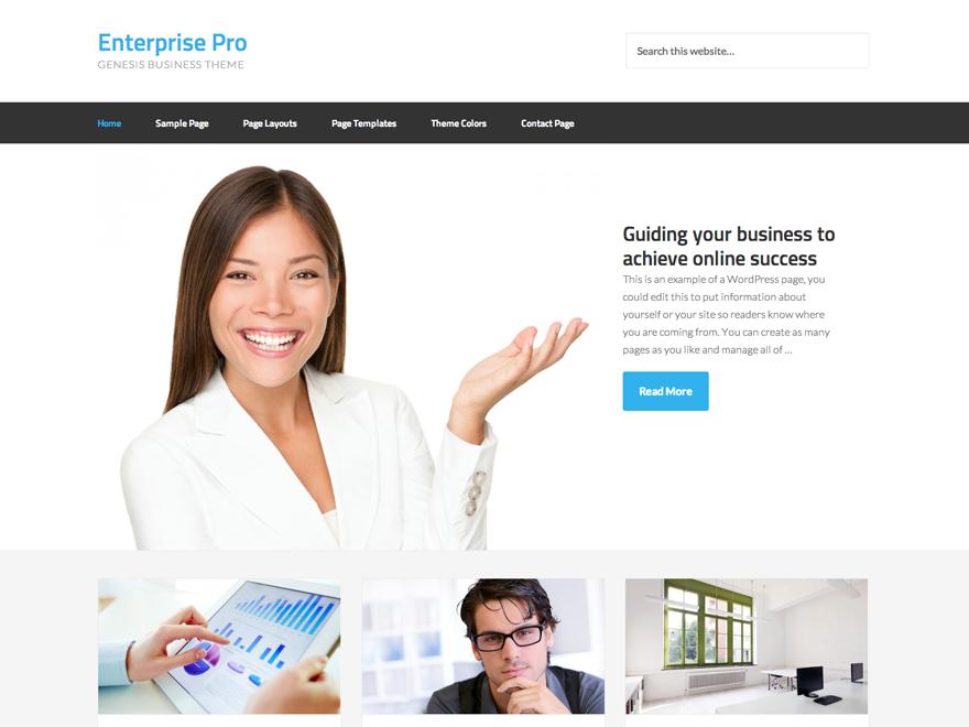 Enterprise Pro Theme - Genesis Child Theme