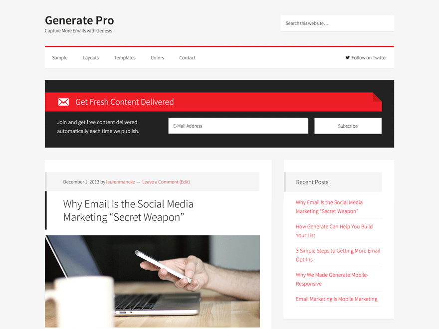 Generate Pro Theme 2.1.1 – Genesis Child Theme