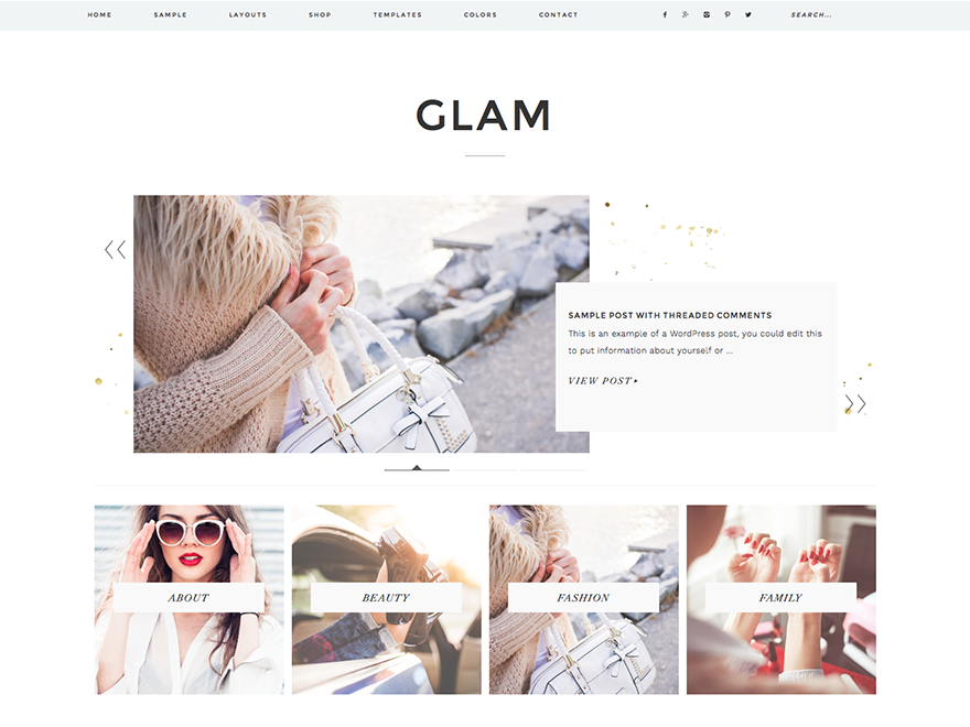 Glam Pro Theme - Genesis Child Theme