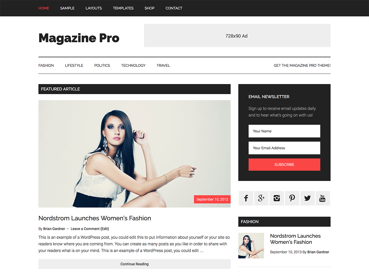 Magazine Pro Theme - Genesis Child Theme