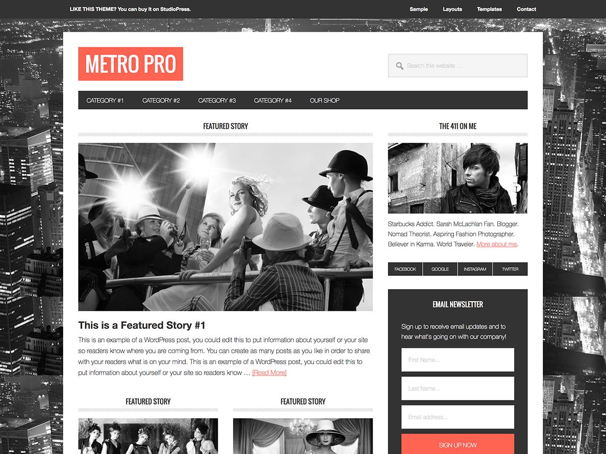 Metro Pro Theme - Genesis Child Theme