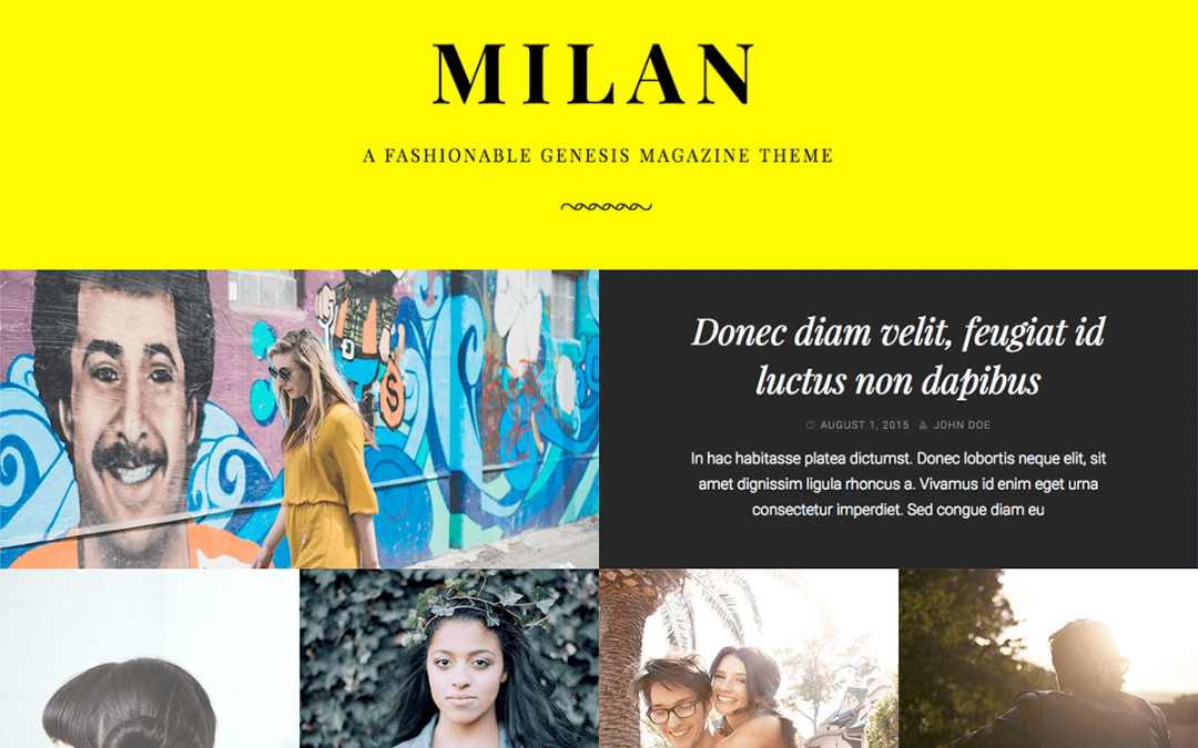 Milan Pro Theme 1.1.0 – Genesis Child Theme