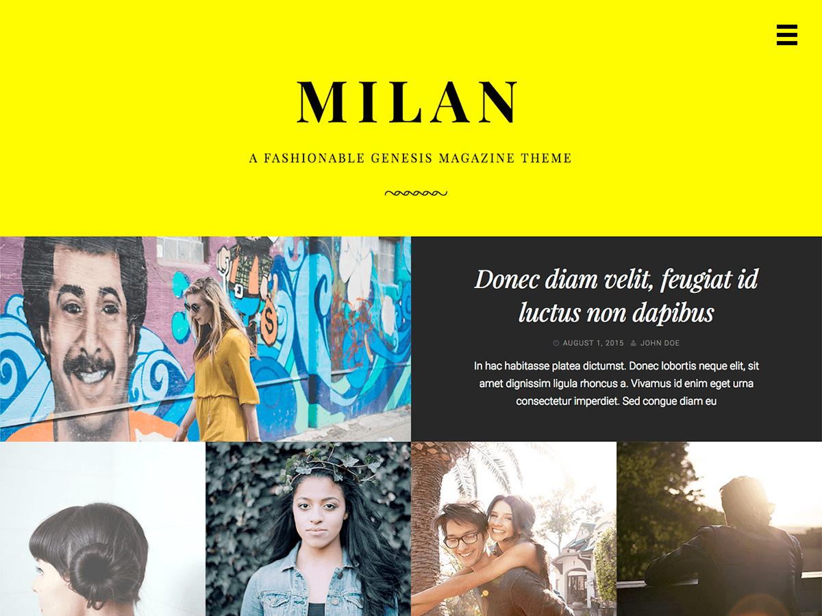 Milan Pro Theme - Genesis Child Theme