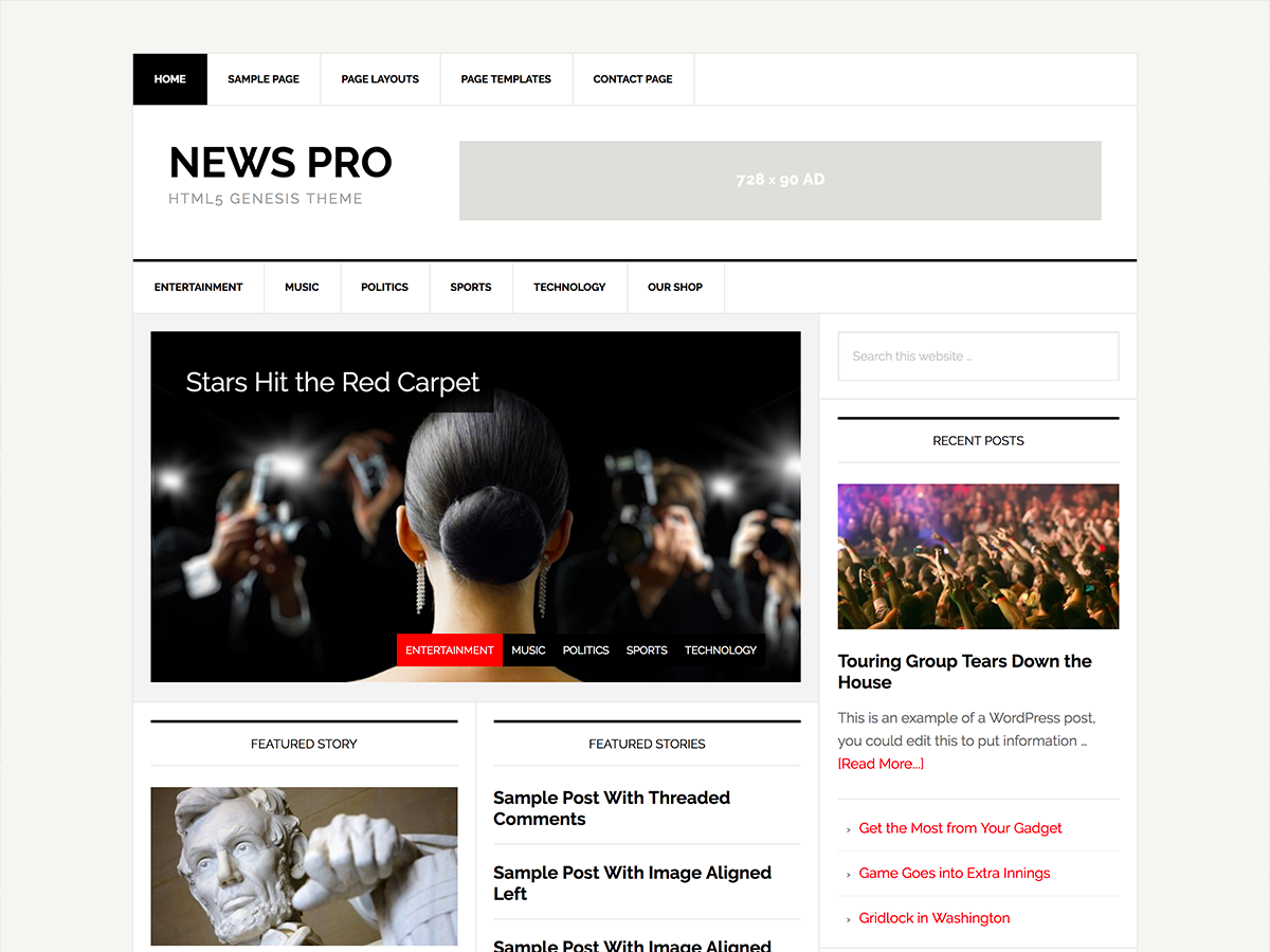 News Pro Theme - Genesis Child Theme