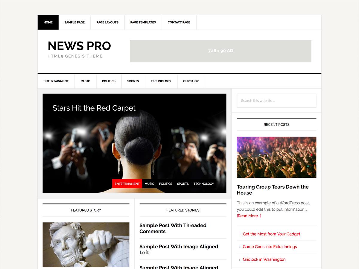 News Pro Theme - Genesis Child Theme