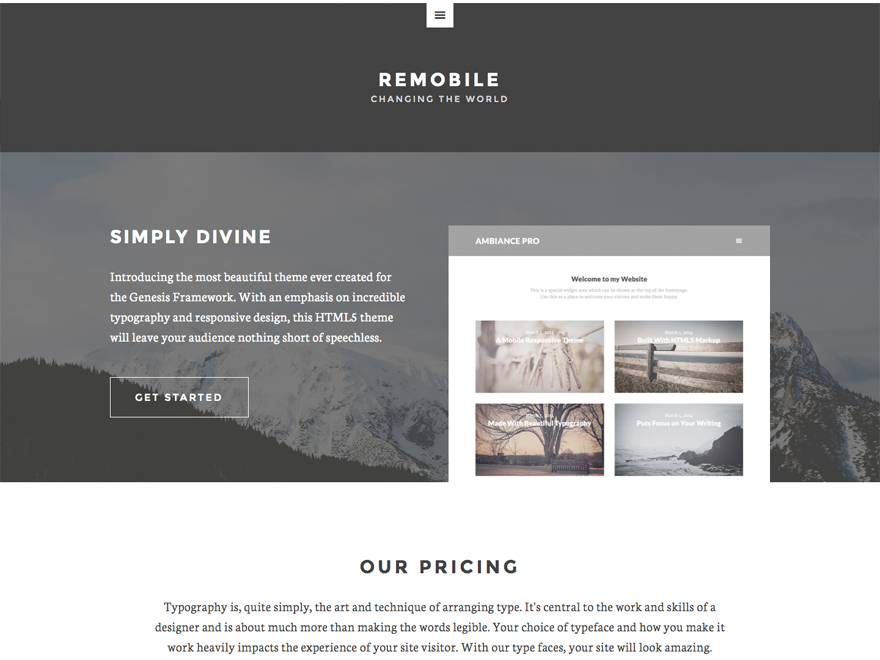 Remobile Pro Theme 1.0.2 – Genesis Child Theme