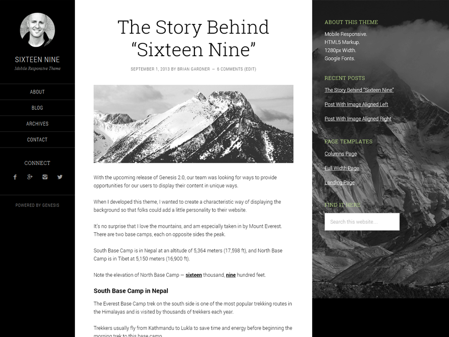 Sixteen Nine Pro Theme 1.1 – Genesis Child Theme