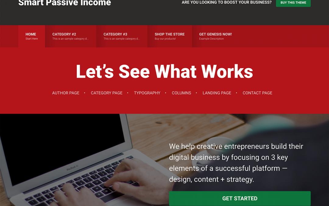Smart Passive Income Pro Theme 1.1.3 – Genesis Child Theme