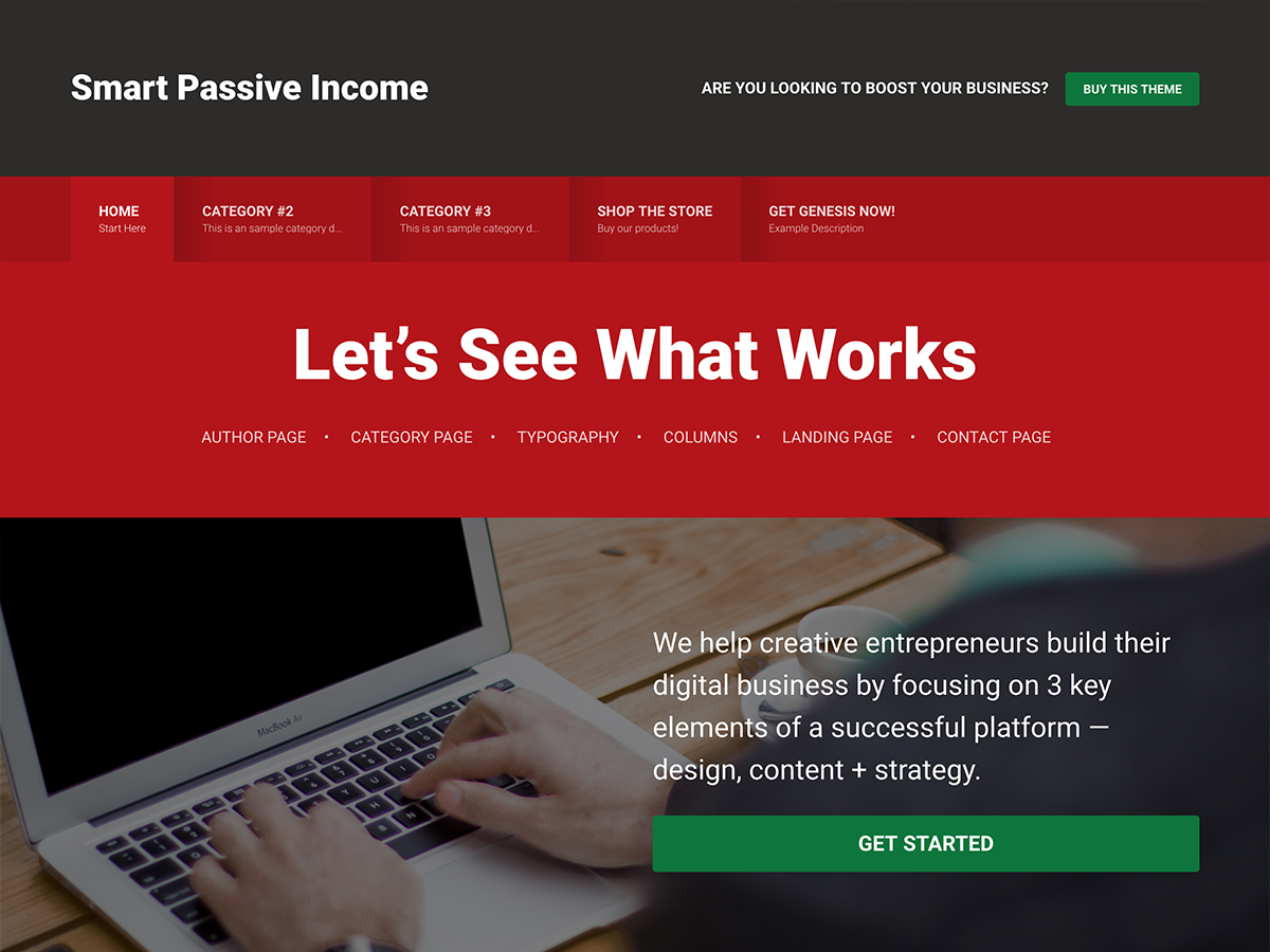 Smart Passive Income Pro Theme - Genesis Child Theme