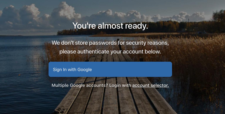 Login con cuenta de Google en Pilvia