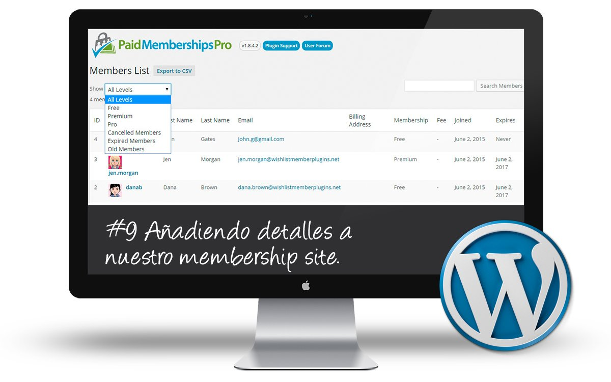 Curso Membership Sites - Añadiendo y puliendo detalles