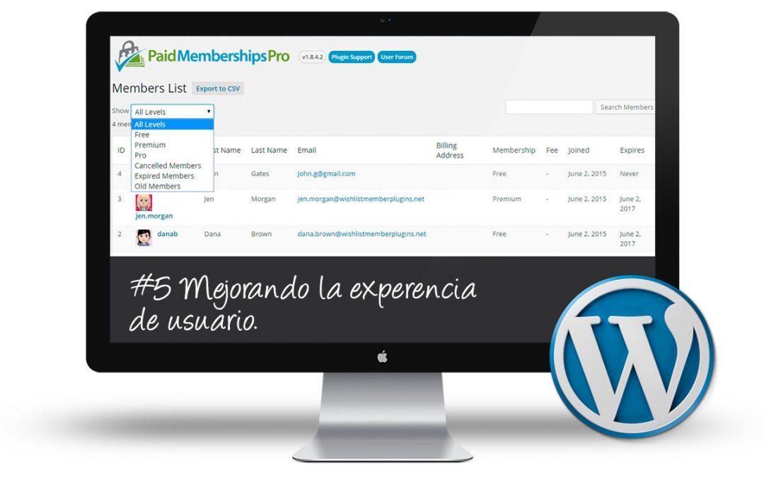 Curso de Membership Sites: #5 Mejorando la experiencia de usuario