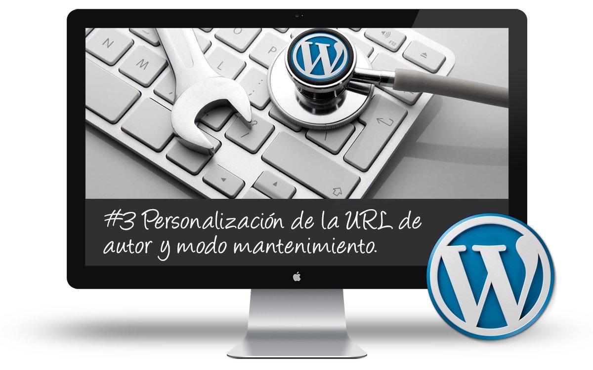 Curso Puesta a Punto WordPress - Personalizacion URL autor y modo mantenimiento