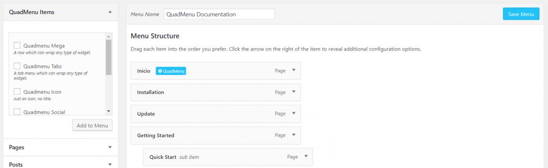 Buscador en mega menu para WordPress con QuadMenu