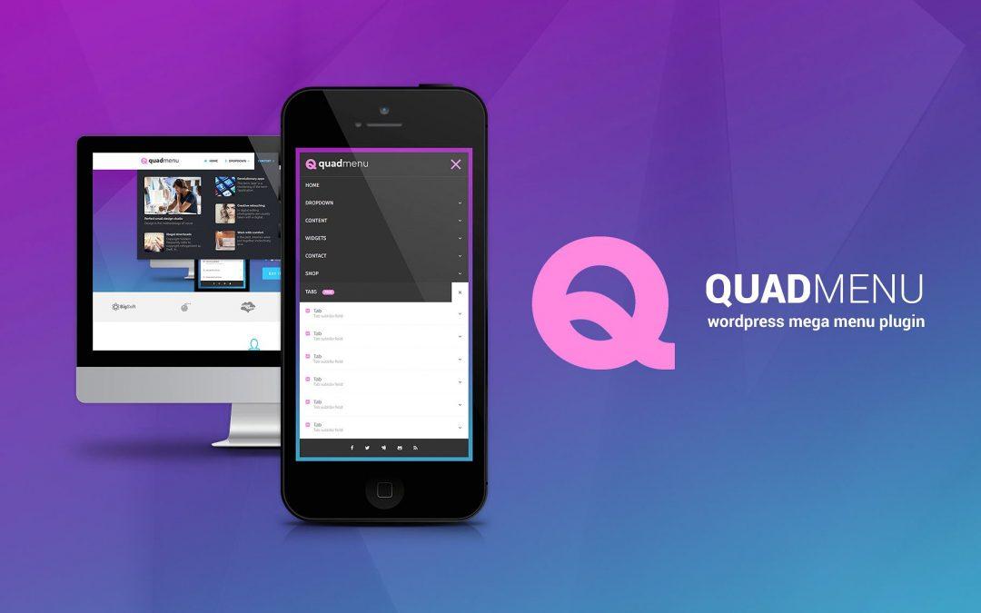 Crea impresionantes mega menús en WordPress con QuadMenu